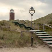 Bronze Mastleuchte Sylt Kampen Leuchtturm