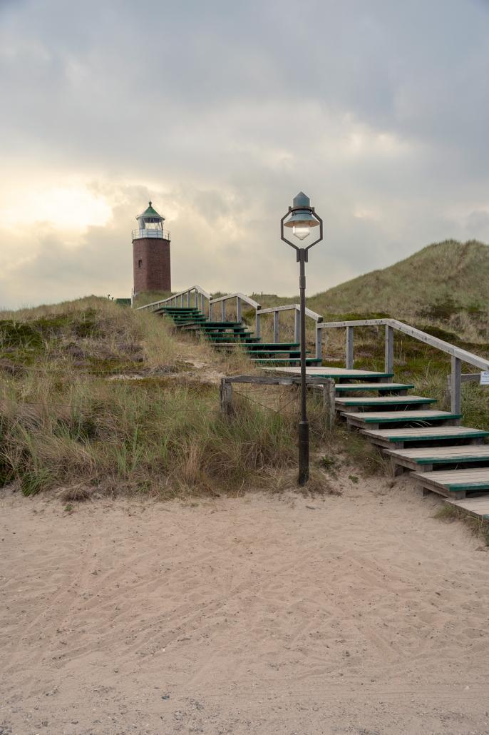 Bronze Mastleuchte Leuchtturm Kampen Strand