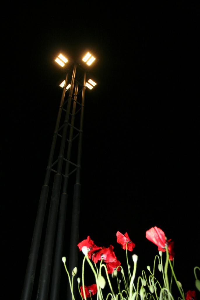 Beleuchtung für Kreisverkehr Wenningstedt
