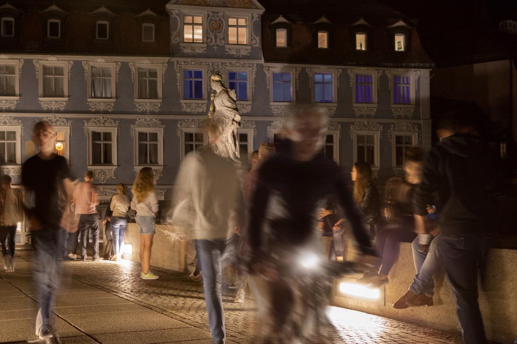 Brückenbeleuchtung Bamberg, Wandeinbauleuchte