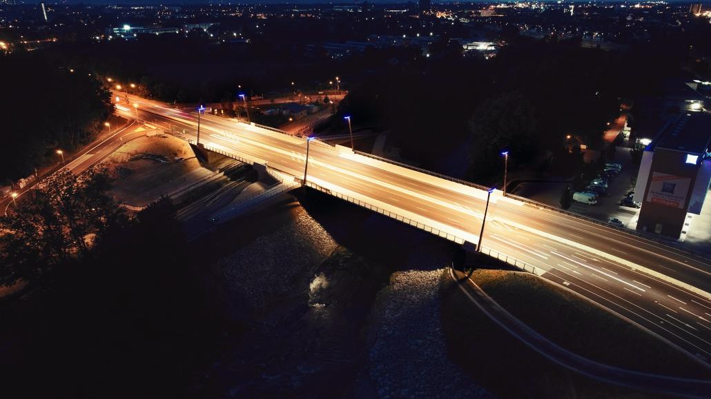 Brüchenbeleuchtung Ackermannbrücke Augsburg