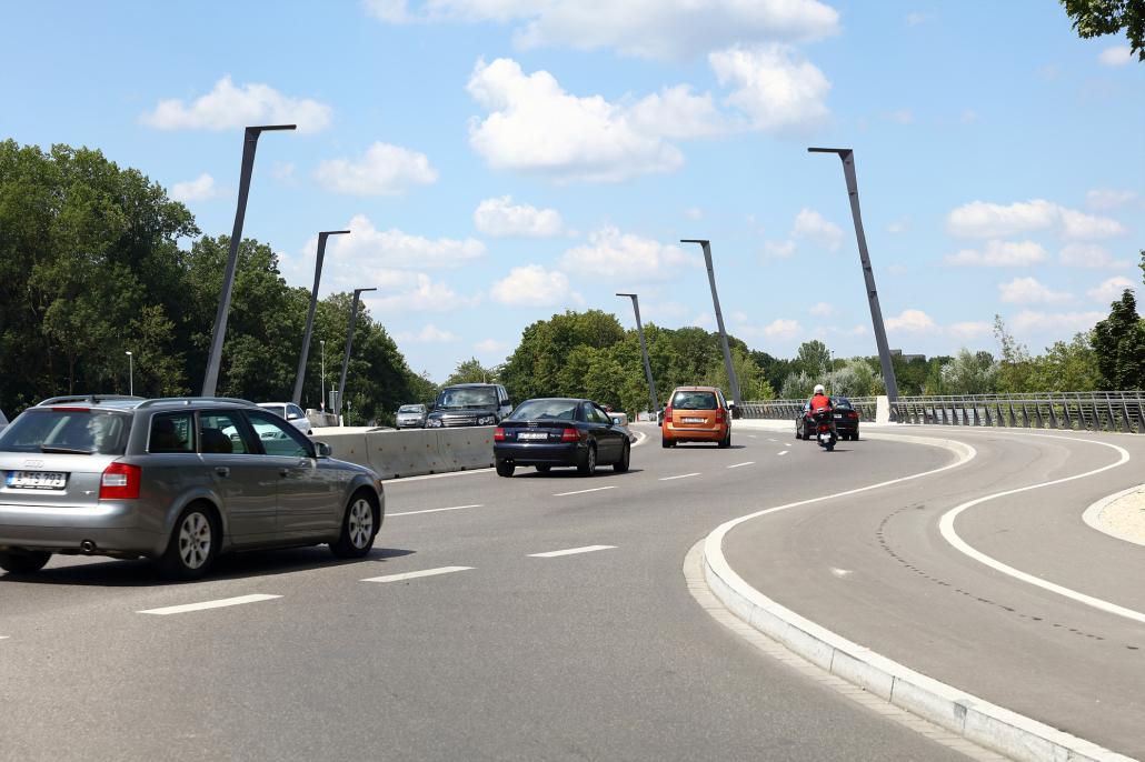 Straßenbeleuchtung Ackermannbrücke Augsburg