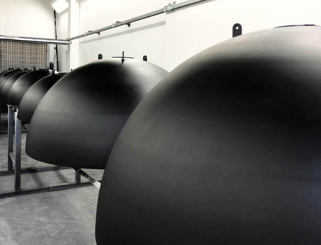 Produktion Lichthalbkugeln Bergmeister Leuchten