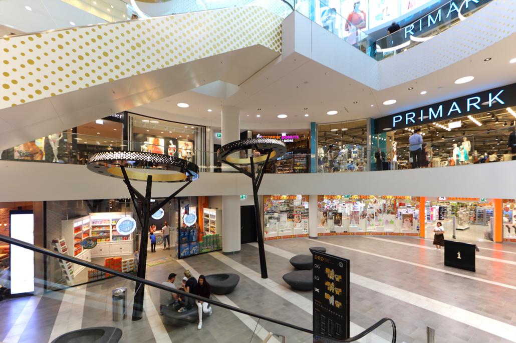 Innenleuchten Einkaufszentrum PEP Lichtbaum