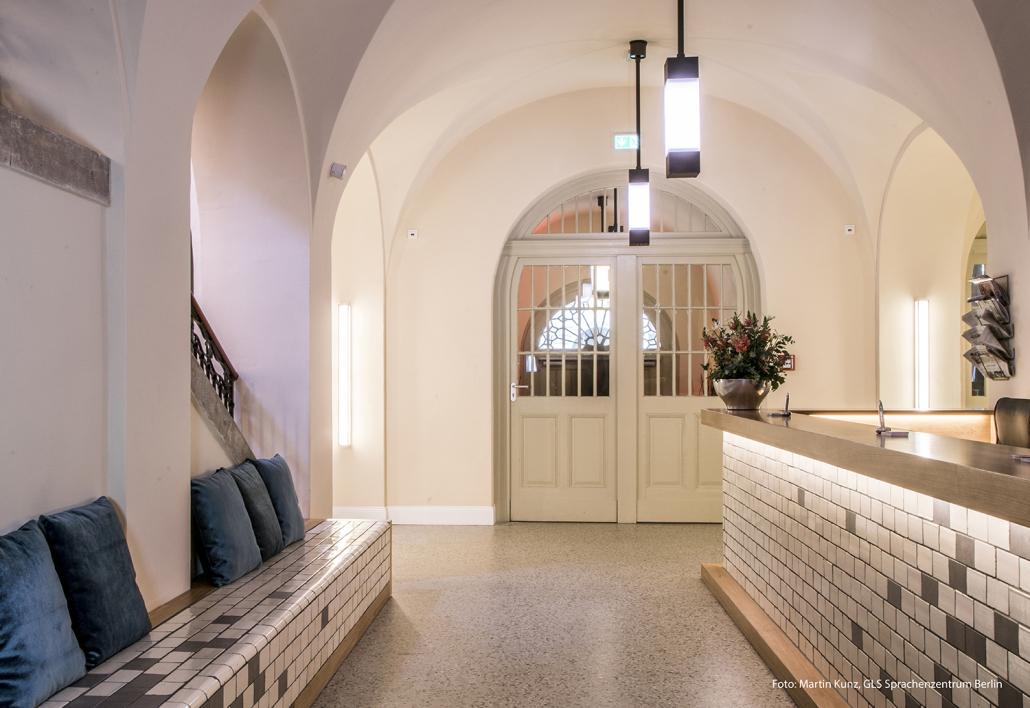 Leuchten Rezeption Oderberger Stadtbad