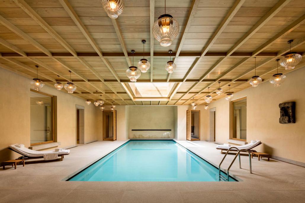 Hotel_Spabereich_Abadia Retuerta Le Domaine_Pendel_Glas